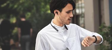 ภาพของ หูฟังอินเอียร์ป้องกันเสียงรบกวนไร้สาย WI-C600N