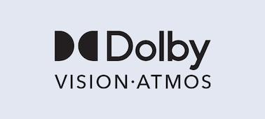 โลโก้ Dolby Vision® และ Dolby Atmos®