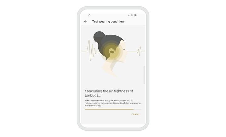 ภาพแสดงอินเตอร์เฟซผู้ใช้แอป Sony | Headphones Connect