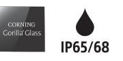 โลโก้ Corning Gorilla Glass & IP65/68