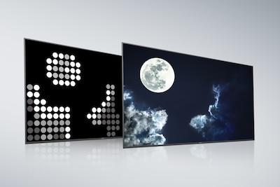 แผงพาเนลด้านหลังและหน้าจอของ Full Array LED ที่มี X-tended Dynamic Range PRO ของ Sony