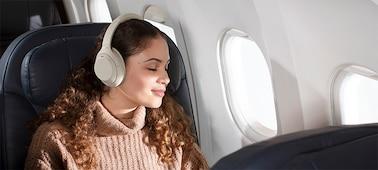 หูฟัง WH-1000XM4 บนเครื่องบิน