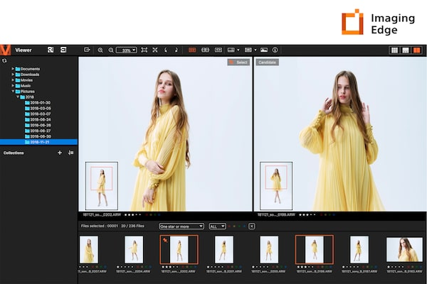 Imaging Edge™ Remote, Viewer และ Edit