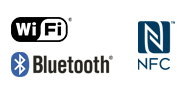 โลโก้ WiFi NFC Bluetooth