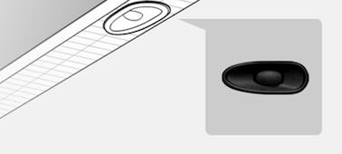 ภาพแสดงรายละเอียดตำแหน่งของ X-balanced Speaker™