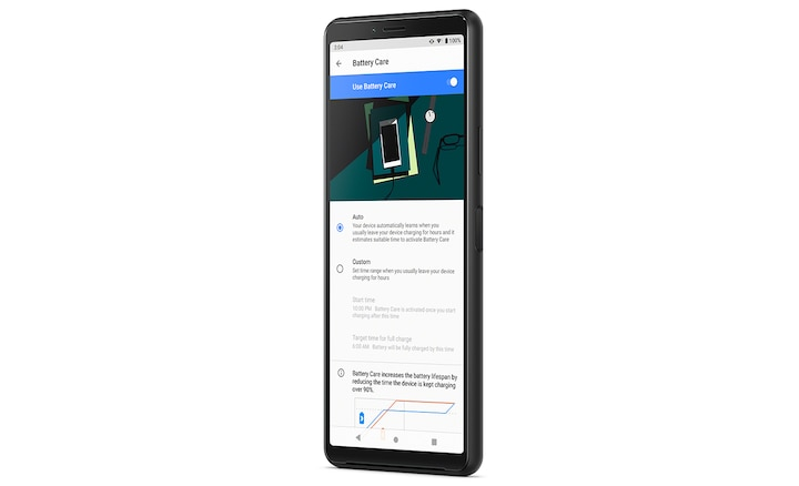 Xperia 10 II with battery care and Xperia Adaptive Charging