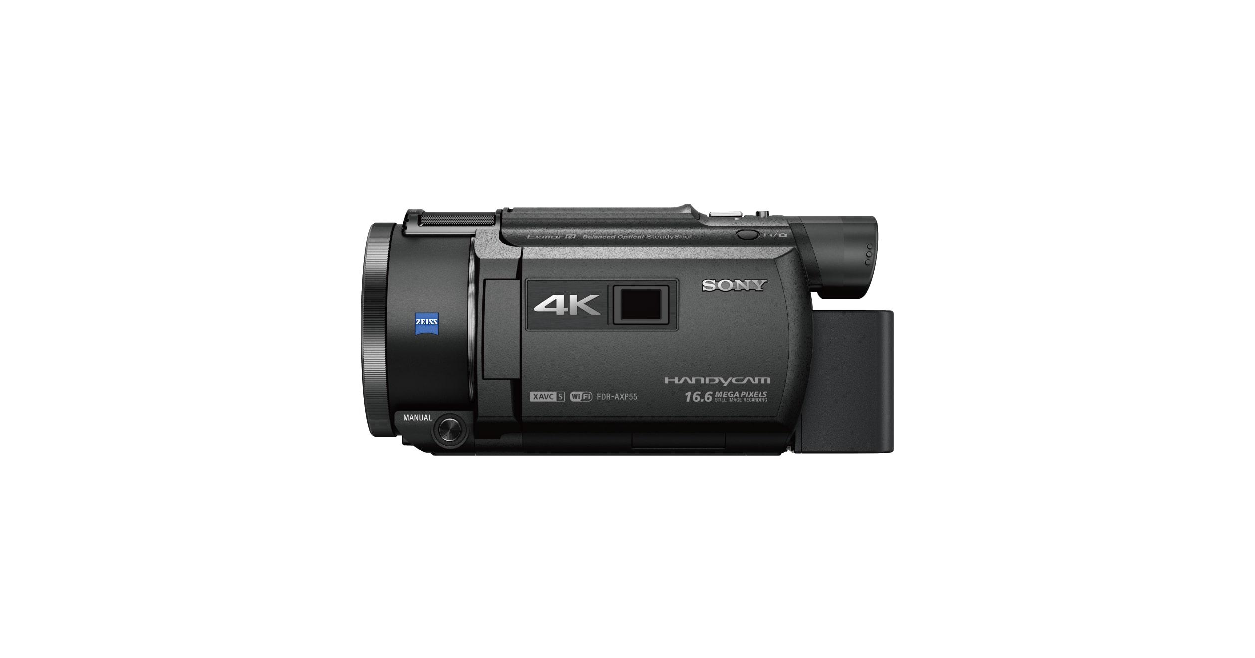 Handycam® 4K AXP55 พร้อมโปรเจคเตอร์ในตัว   FDR-AXP55